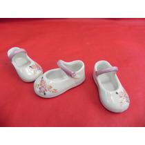 Lembrancinha Porcelana Sapatinho Boneca Chá Bebe Maternidade