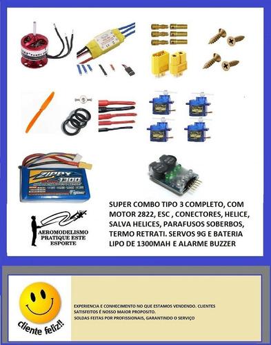 Super Combo Emax Tipo 3 - Completo Com 4 Servos + Buzzer