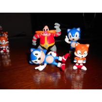 Coleção Bonecos Sonic, Dr. Robotnik E Tails