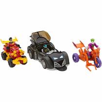 Dc Imaginext Batman Robin Coringa Joker - Batmóvel +veículos