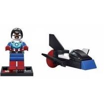 Lego Marvel Capitão America Bonequinho Com Acessorio