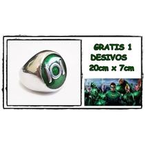 Anel Do Lanterna Verde Em Aço Inox 100% Novo