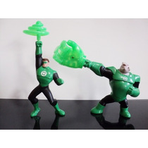 Lote 2 Bonecos Mc Donalds Liga Justiça Dc Lanterna Verde
