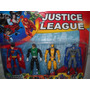 Liga Da Justiça Blister Com 4 Personagens Articuláveis Show!