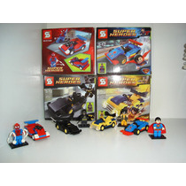 Batmóvel Super Car Spider Car Jipe Do Wolverine Lego Decool