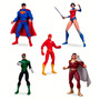 Kit 5 Figuras Liga Da Justiça Dc Collectibles Kit-liga