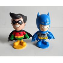 Lote 2 Bonecos Liga Da Justiça Toy Art Coleção Bob