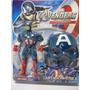 Boneco Capitão América + Máscara - Vingadores 25cm_avengers