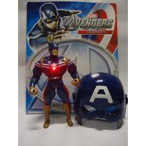 Boneco Capitão América 25 Cm + Máscara