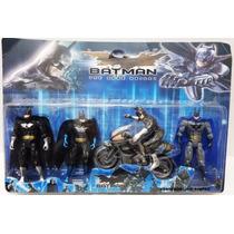 Boneco Batman Kit Com 4 + Moto Liga Da Justiça - Vingadores