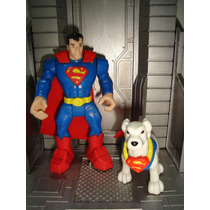 Superman E Krypton Dc Super Friends Hero World Imaginext Rar