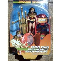 Boneco Mulher Maravilha 12 Cm Mission Vision Liga Da Justiça