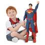 Superman - Brinquedo Menino Boneco Articulado Gigante 55cm