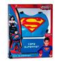 Kit Acessórios Superman Capa E Peitoral Fantasia Infantil