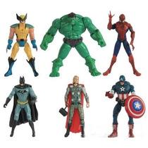 Bonecos: Batman,thor,h.aranha,wolverine,c. América,hulk 15cm
