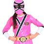 Fantasia Power Samurai Luxo Rosa - De 6 Até 8 Anos!!!