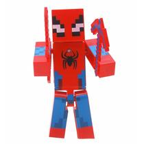 Boneco Minecraft Coleção -homem Aranha Brinquedo Modelos
