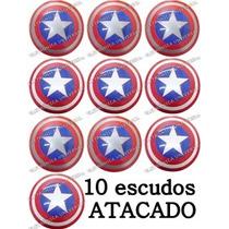 10 Escudo Do Capitão America, Brinquedo Novo Pronta Entrega