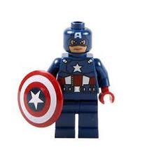 Tipo Lego Capitão América, Marvel.