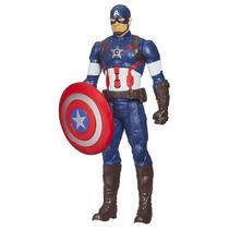 Boneco Capitão América Eletrônica Com Escudo - Hasbro