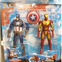 2 Bonecos Guerra Civil Homem De Ferro Capitao America