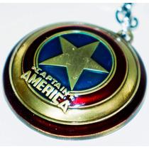 Chaveiro Marvel Capitão América Escudo De Metal Importada