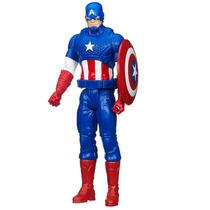 Boneco Capitão América 30 Cm Titan Hero Series Vingadores
