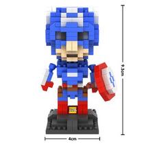 Boneco Capitao America Lego (loz) Blocos De Montar