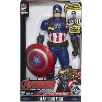 Boneco Capitão América Eletrônica 12 - Hasbro
