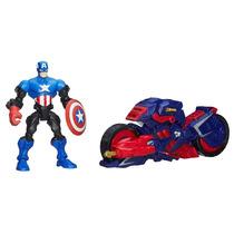 Marvel Mashers Capitão América Com Veículo - Hasbro