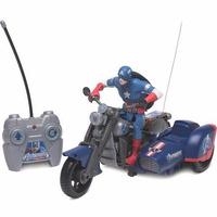 Boneco Capitão América Motor Bike Com Controle Remoto - Dtc