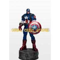 Boneco Capitão America / Estátua Em Resina 33 Cm