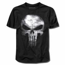 O Justiceiro : The Punisher, Camiseta Manga Curta Em Algodão