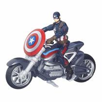 Marvel Legends Series Capitão America Guerra Civil Com Moto