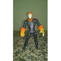 Boneco Motoqueiro Fantasma - Ghost Rider 16,5cm Raro