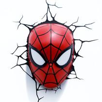 Máscara Homem Aranha Spiderman 3d Art Luminária Marvel
