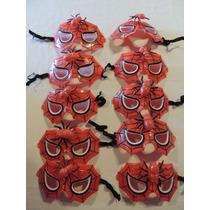 Máscaras Homem-aranha - Kit 10 Unid Com Elástico
