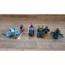 Kit Tipo Lego Marvel Avengers, Spiderman, Capitão América