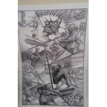 Tela Quadro Homem-aranha-surfista Prateado Serie Quadrinhos