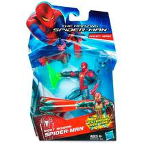 Boneco Spider-man Night Mission Homem Ararnha Hasbro 10 Cm
