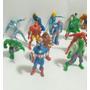 Coleção Marvel Comics Lot 17 Bonecos Miniaturas Emborrachado