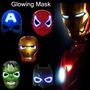 Mascara Luminosa Heroes Marwell Homem Aranha Led Vingadores
