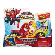 Homem-aranha Com Moto Lança Teias Web Warriors - Hasbro