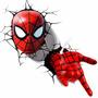 Luminária Máscara E Mão Homem Aranha - 3d Light Fx - Marvel