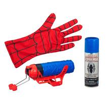 Lançador De Teia Homem Aranha Com Luva Hasbro