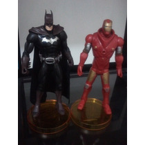 Boneco Homem De Ferro + Batman ( 2 Peças )