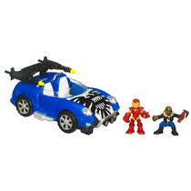Super Hero Squad Hover Car - Iron Man E Nick Fury - Marvel