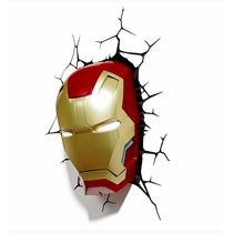 Máscara Homem De Ferro - Luminária 3d Light Fx