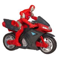 Moto Vingadores Com Boneco Homem De Ferro- Hasbro 37723