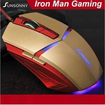 Mouse Gamer Iron Man Usb Ótico 1800 Dpi 6 Botões - Importado